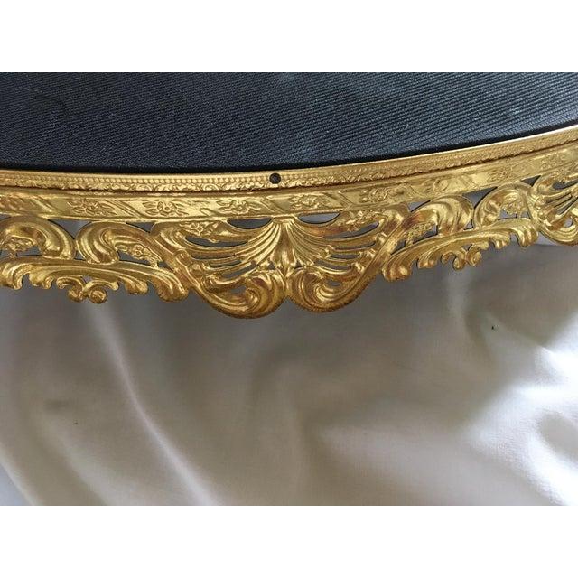 Hollywood Regency Gold Mirrored Vanity Tray Chairish