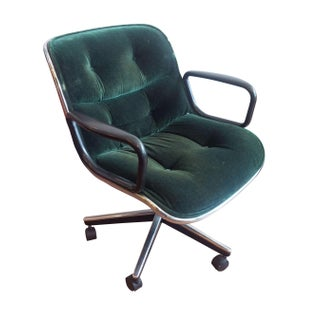 Knoll Pollock Executive Chair in Green Mohair