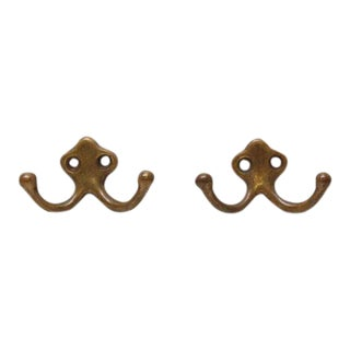 Double Bronze Hooks - A Pair