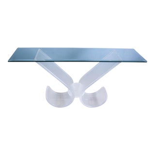 Mid-Century Modern Lucite Console Table