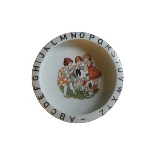Vintage 1940s Children's Alphabet Bowl
