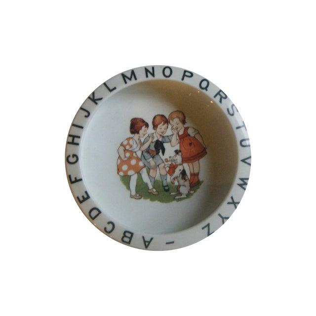 Image of Vintage 1940s Children's Alphabet Bowl
