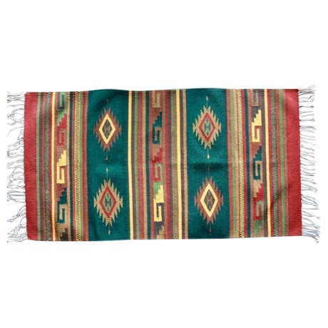 Mexican Pedal-Loom Green Rug - 2′7″ × 4′10″ - Image 1 of 6