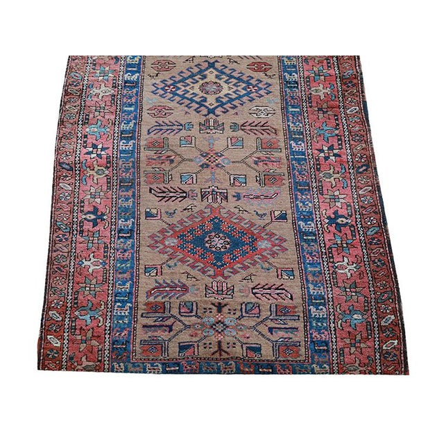 """Antique Persian Sarab Runner Early 1900's - Size 3'4"""" X 11'3"""" - Image 2 of 4"""