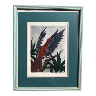 Regency Style Parrot Painting