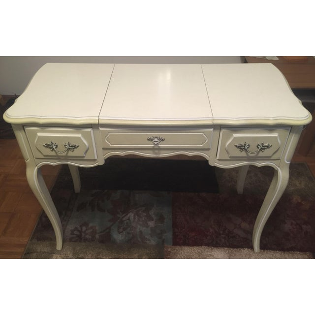 Vanity With Mirror: Vintage 1960s Henry Link French Provincial Bedroom Furniture - 1 of 14 Pieces - Image 6 of 6