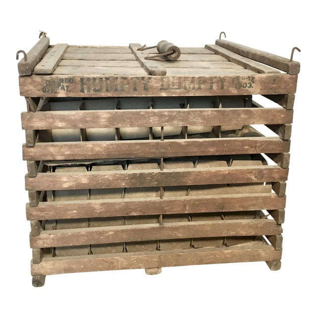 Antique Humpty Dumpty Egg Crate - Image 1 of 6