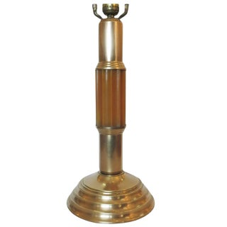 Art Deco Celluloid and Brass Table Lamp