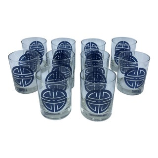 Chinoiserie Drinks Glasses - Set of 10