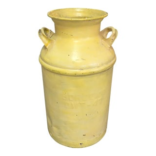 Vintage Yellow Milk Can