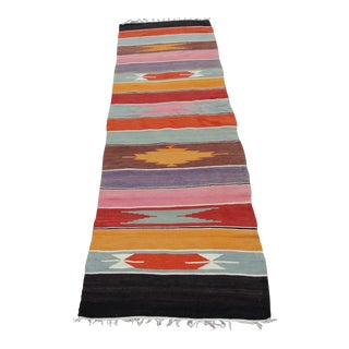 Vintage Turkish Kilim Rug - 2′2″ × 8′7″