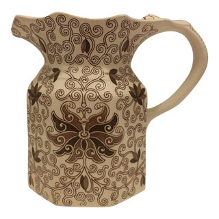 Vintage Ironstone Transferware Pitcher
