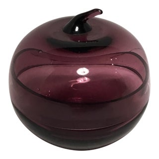 Purple Glass Apple Keepsake Box