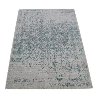 Teal Distressed Rug - 8' X 10'7''