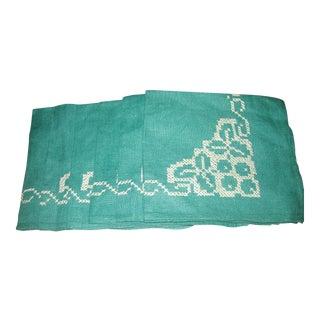 Vintage Linen Cross-Stitch Napkins - Set of 6