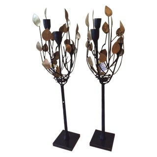 Global Views Bird's Nest Candle Holders - A Pair