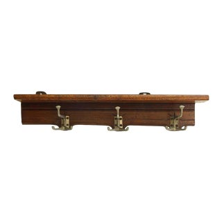 Mid-Century Coat Rack With Shelf