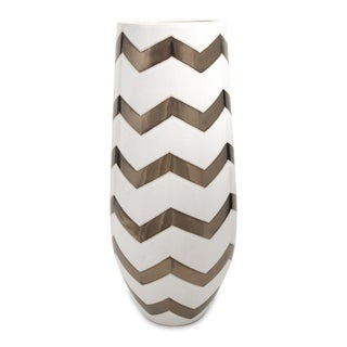 Bronze Metallic Cheveron Vase