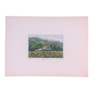 Vintage Italian Watercolor Print