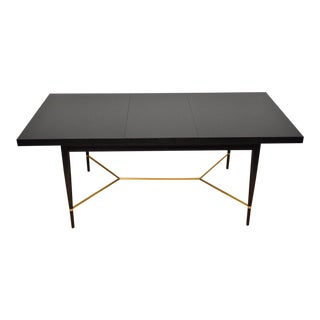 Black and Brass Dining Table by Paul McCobb