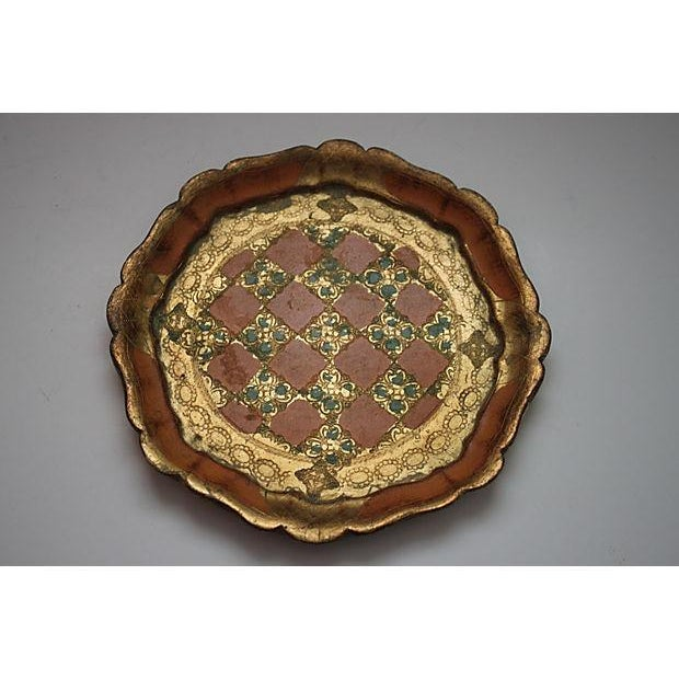 Round Florentine Tray with Scalloped Edge - Image 2 of 3