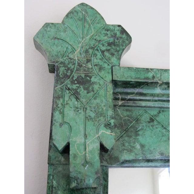 Refurbished Vintage Green Faux Marble Mirror - Image 3 of 7
