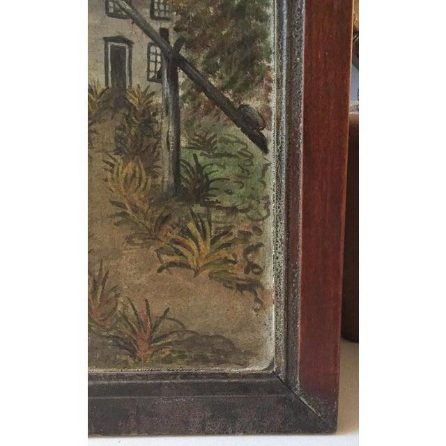 19th Century Folk Art Oil on Canvas Painting - Image 5 of 7