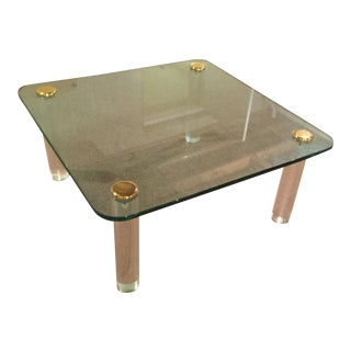 1940s Glass   Gold Table. Vintage   Used Cocktail and Coffee Tables   Chairish