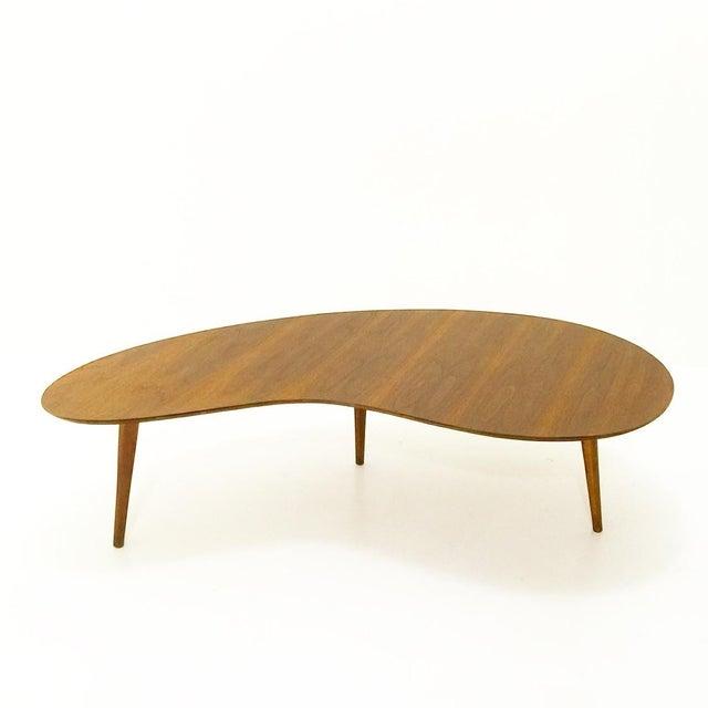 Atomic Boomerang Walnut Coffee Table Chairish