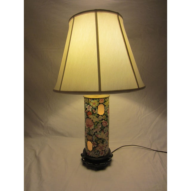 Asian Inspired Lamps With Night Light - A Pair - Image 4 of 8