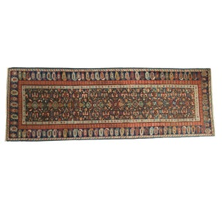 "Antique Kuba Caucasian Rug Runner - 3'7"" x 9'11"""