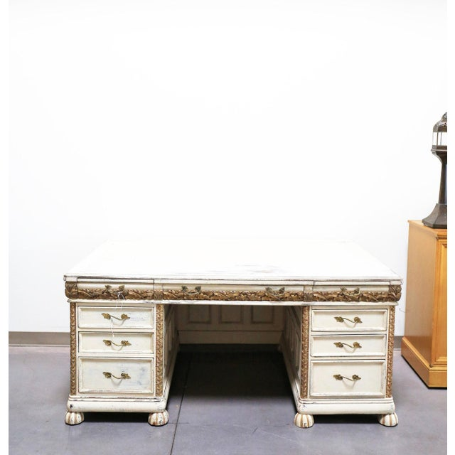 Antique White French Desk - Image 2 of 7