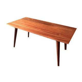 Hand Made Mid-Century Coffee Table W/Brass Inlay