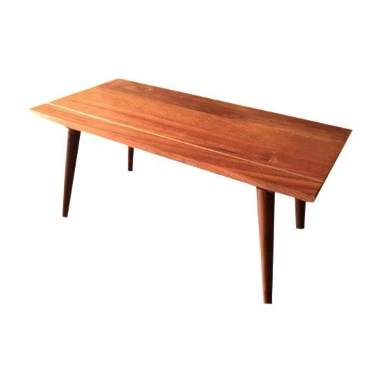 Hand Made Mid Century Coffee Table W Brass Inlay Chairish