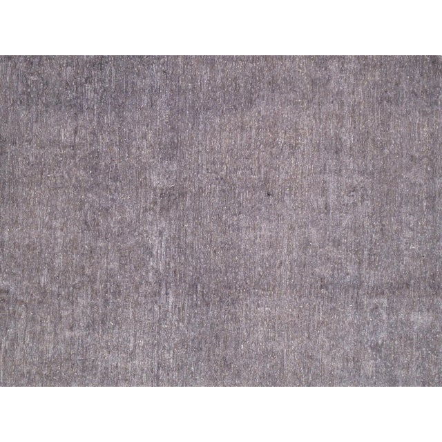 Overdyed Amethyst Wool Area Rug - 9′11″ × 13′2″ - Image 2 of 4