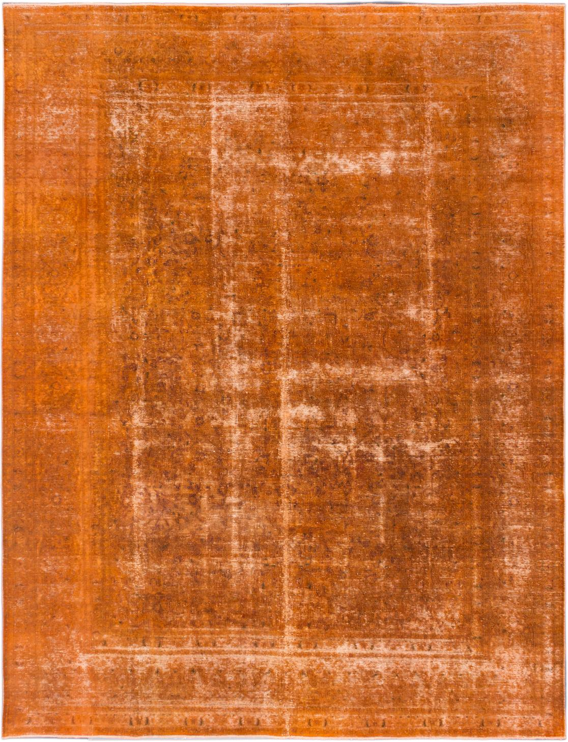 Vintage Amp Used Orange Contemporary Handmade Rugs
