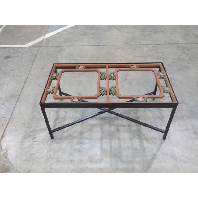 Antique Sarreid LTD Window Framed Coffee Table - Image 6 of 6