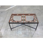Image of Antique Sarreid LTD Window Framed Coffee Table