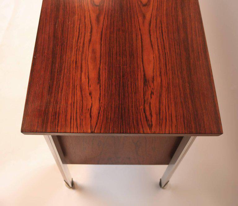 Beautiful Finn Juhl Diplomat Cabinet With Floating Bookmatched Brazilian Rosewood Top    Image 6 Of 9