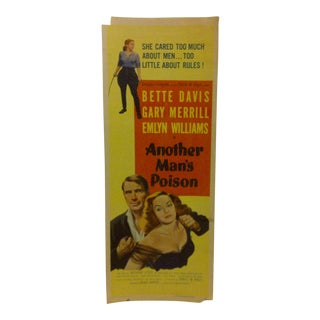 """Vintage """"Another Man's Poison"""" 1951 Movie Poster"""