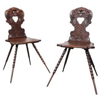 Austrian Hall Chairs - A Pair