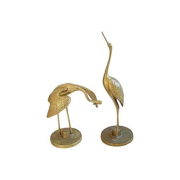 Mid-Century Brass Cranes - A Pair - Image 1 of 4