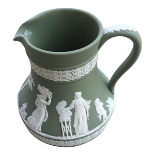 Wedgwood Etruscan Green Pitcher