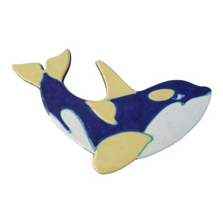 Mid-Century Hawaiian Orca Pottery Plaque