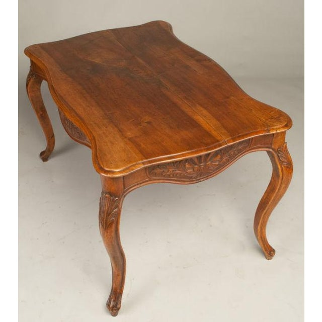 Image of Antique 18th C. French Louis XV Walnut Table