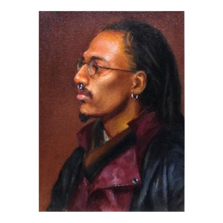 Portrait of Man in Leather Jacket & Glasses