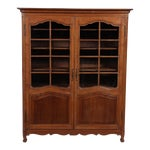 Image of 19th C. Louis XV Bookcase With Glass Doors