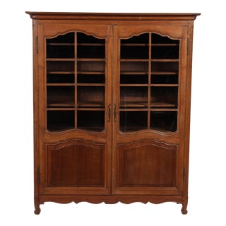 19th C. Louis XV Bookcase With Glass Doors