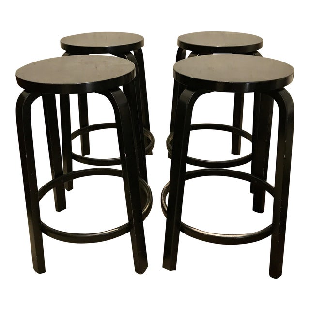 Alvar Aalto Model 64 Stools for Artek - Set of 4 - Image 1 of 10