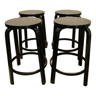 Alvar Aalto Model 64 Stools for Artek - Set of 4
